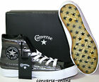 Men Women CONVERSE All Star BLACK SILVER STUDDED HI TOP Trainers Boots SIZE UK 5