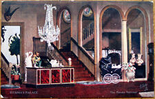 1910 Raphel Tuck Postcard: Titania's Palace - Private Staircase, Dollhouse