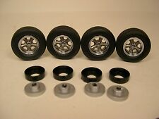 LANE AUTOMOTIVE 1:18 SCALE PLASTIC AND RUBBER TORQUE THRUST WHEEL & TIRE SET #1