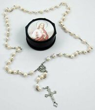 PEARL ROSARY BEADS - 6mm Beads With Storage Case - Rapid Same Day Despatch!