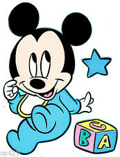 """6.5"""" DISNEY BABIES BABY MICKEY SET  WALL SAFE STICKER CHARACTER BORDER CUT OUT"""