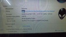 Alienware laptop M17X 4GB 500GB i7 Q720 @ 1.60 GHz
