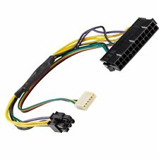 "AYA 12"" (12 Inch) ATX Main 24-Pin to 6-Pin PCI-E PSU Power Adapter Cable 18AWG"