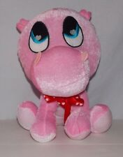 "Peek A Boo Toys Pink Hippo Plush Stuffed Animal 9"" Valentine's"