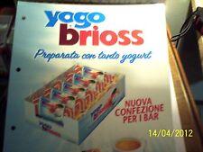 kinder & ferrero  PUBBLICITA'  YOGO BRIOSS FOGLIO SINGOLO