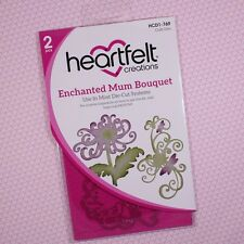 Heartfelt Creations Cut & Emboss Dies ~ Enchanted Mum Bouquet, HCD1 769 ~ NIP