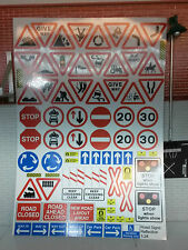 G LGB 1:24 Scale Modern Road Signs Notice Model Railway Crossing Diorama