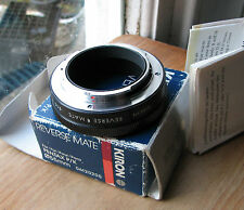 Pentax PK K (film camera)  fit reverse mount to 55mm filter macro used Kiron