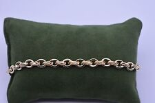 Technibond Sevilla Adjustable Circle Link Bracelet 14K Gold Clad Sterling Silver