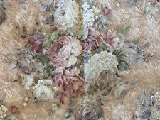 Vintage Brocade Fabric Sample Roses Shabby Material Pillows Crafts Impressionism