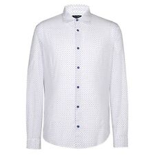 Armani Jeans - White w/ Navy Dots Shirt - Size L - *NEW WITH TAGS* RRP £130