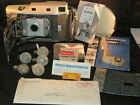 Polaroid 800 Land Camera With Leather Case, Flash, Bounce Bracket etc - Used