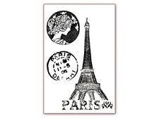 Stamperia Acrylic Stamp - Paris - Eiffel Tower, Postmarks - Travel, Holidays
