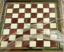 FRANKLIN MINT ~ COCA COLA STAINED GLASS CHESS GAME SET 24K GOLD PLATED   HTF