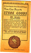 You Can Buy Stork Goods By Mail with Small Envelope Price List Brochure