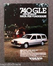 [GCG]  N242 - Advertising Pubblicità - 1986 - VOLVO 740 GLE STATIN WAGON