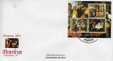 Penrhyn 2013 FDC Christmas Paintings 3v M/S Cover Sandro Botticelli Honthorst