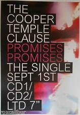 COOPER TEMPLE CLAUSE PROMISES RARE ORIGINAL OFFICIAL UK RECORD COMPANY POSTER