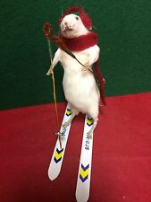 *Taxidermy Real Mouse Snow Skiing!  Hitting the slopes!/rat-bat-beetle-bird