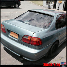 Rear Roof Spoiler Window Wing (Fits: Honda Civic 1996-00 4dr) SpoilerKing