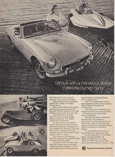 "1973 MG MGB Convertible MG-TC & Speed Boat photo ""You are Part of the Car"" Ad"
