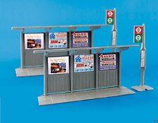 Model Scene 5007 Bus Stop & Shelter (2) 1:87 AMAZING DETAIL