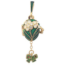 Faberge Egg Pendant / Charm with Butterfly 2 cm green #0679-08