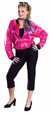 Ladies 1950's Grease Pink Ladies T-Bird Sweetie Fancy Dress Size 8-10