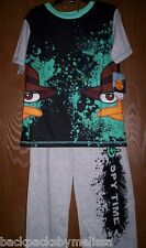 Phineas and Ferb PERRY Boy's 6/7 Pajamas NeW Short Sleeve Shirt & Pants Pjs NWT