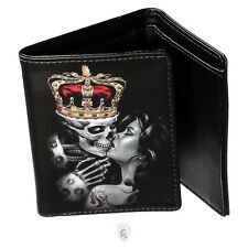 OG Abel Clothing Lost King Tattoo Art Goth Punk Skull Skeleton Blk Wallet WTR001