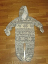 Next snowsuit coat age 6 - 9 months brand new with tags grey white