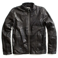 G-STAR RAW LUXURY LEATHER JACKET MOTO BIKER BLACK SIZE L(M) (rather Medium)