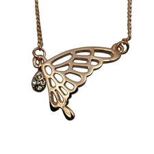 Fashion Jewelry - 18K Rose Gold Plated Butterfly Necklace (FN036)