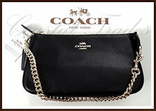 NWT NEW $150 Coach Leather Large 19 Wristlet Phone Clutch Bag Satchel BLACK 2017