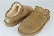 UGG AUSTRALIA CLASSIC SLIPPER SUEDE SHEARLING CHESTNUT SIZE 8 US