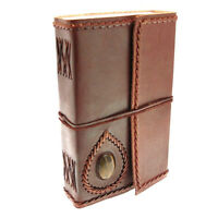 Fair Trade Handmade Eco Friendly Extra Large Stoned Leather Journal 2nd Quality
