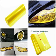 100cm x 30cm Gloss Yellow Car Headlight Tint Vinyl Wrap Film Sheet Cover Sticker