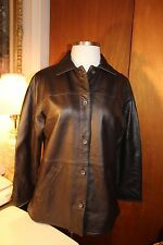 CENTIGRADE WOMEN'S 100%GENUINE LEATHER JACKET SIZE-LARGE BROWN NEW WITH TAGS
