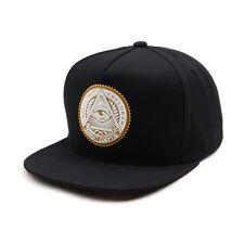 Unisex Mens Premier Illuminati Eye Baseball Cap Snapback Hiphop Hat BLACK/YELLOW