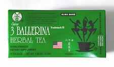 1 Box 3 Ballerina Herbal Tea Dieters' Drink Extra Strength 18 Teabags