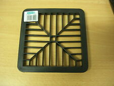 SQUARE GULLY GRATING 150MM X 150MM PLASTIC BLACK