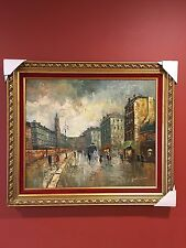 oil painting by Gustav in beautiful frame