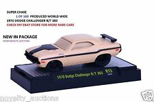 E20 82161 15 M2 GROUND POUNDERS SUPER CHASE 1970  DODGE CHALLENGER R/T 383 1:64
