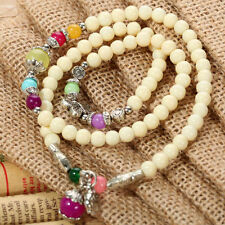 Tibetan Silver Oyster White Turquoise Jade Pearl Pendant Bracelet Or Necklace