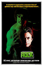 """The Incredible Hulk - (Lou Ferrigno) Movie Poster - (24""""x36"""") - Free S/H"""