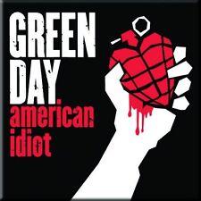 """GREEN DAY American Idiot fridge magnet 3"""" square metal gift free UK P&P"""