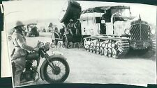 1940 World War II Turkish Guns and Tanks Original News Service Photo