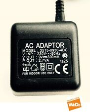3515-0930-4DC ALIMENTATION EN COURANT AC ADAPTER 9V 300mA PRISE UK ta25