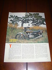 1975 KAWASAKI Z1 B 900  - ORIGINAL VINTAGE  ARTICLE