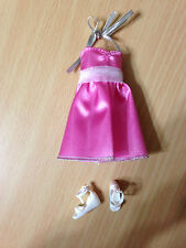 Barbie Fairytale Wedding Flower Girl Stacie Doll's Outfit Pink Halter Dress Shoe